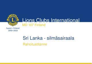 Sri Lanka - silmäsairaala