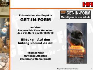 Präsentation des Projekts GET-IN-FORM auf dem
