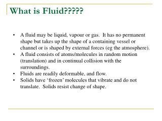 What is Fluid?????