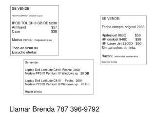 SE VENDE: FECHA COMPRA 24 DIC 2008 Original IPOD TOUCH 8 GB DE $230