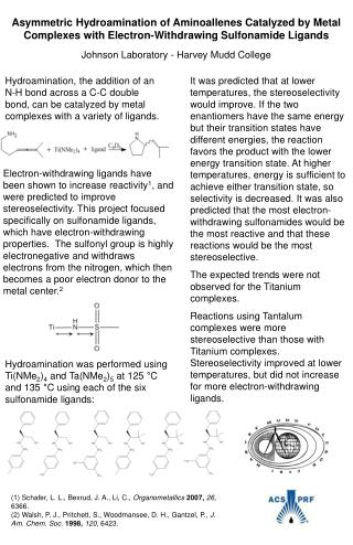 (1) Schafer, L. L., Bexrud, J. A., Li, C.,  Organometallics  2007,  26,  6366.