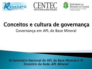 Conceitos e cultura de governança