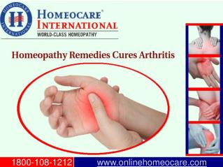 Homeopathy for Relief from Arthritis Disorder