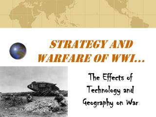 Strategy and Warfare of WWI