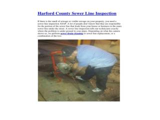 Harford County Sewer Line Inspection