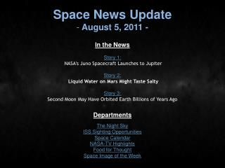 Space News Update  August 5, 2011 -