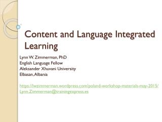 CLIL - Content Language Integrated Learning