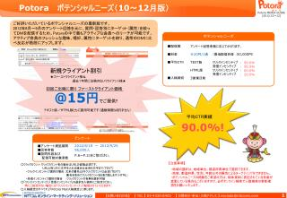 Potora    ポテンシャルニーズ( 10 ~ 12 月版)
