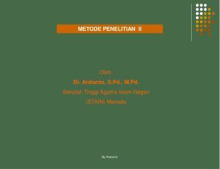METODE PENELITIAN  II