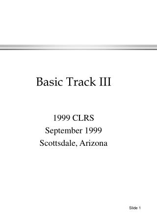 1999 CLRS September 1999 Scottsdale, Arizona