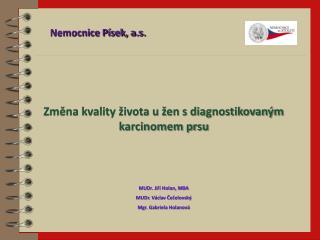 Změna  kvality života u žen s diagnostikovaným karcinomem prsu MUDr. Jiří Holan, MBA