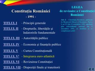 Constituţia României - 1991 -