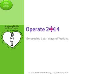Embedding Lean Ways of Working