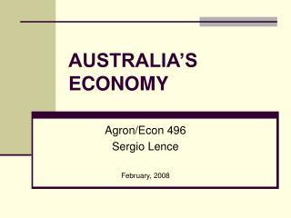 AUSTRALIA S ECONOMY
