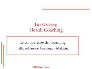 Life Coaching Health Coaching