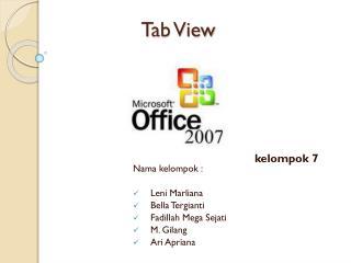 Tab View