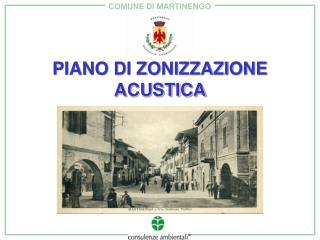 PIANO DI ZONIZZAZIONE ACUSTICA