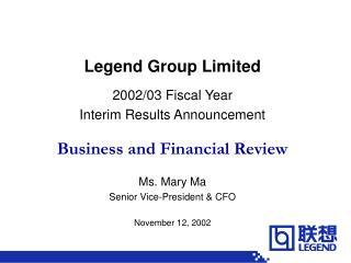 Legend Group Limited