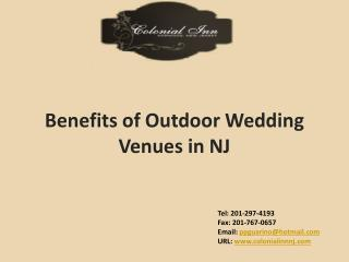 Benefits of Outdoor Wedding Venues in NJ