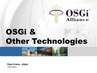 OSGi   Other Technologies