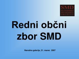 Redni občni zbor SMD