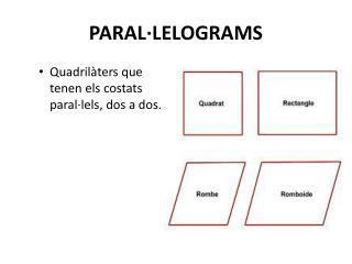 PARAL·LELOGRAMS
