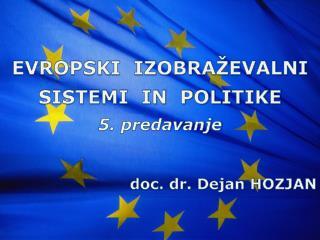 doc. dr. Dejan HOZJAN