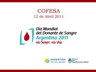 COFESA  12 de Abril 2011