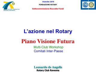 L'azione nel Rotary Piano Visione Futura Multi-Club Workshop Comitati Inter-Paese