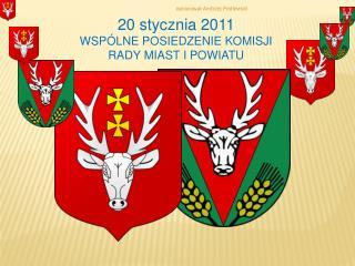 20 stycznia 2011 WSPÓLNE POSIEDZENIE KOMISJI  RADY MIAST I POWIATU