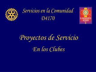 Servicios en la Comunidad D4170