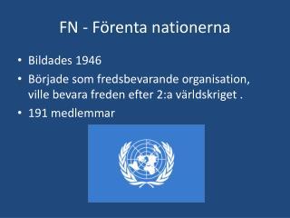 FN - F�renta nationerna