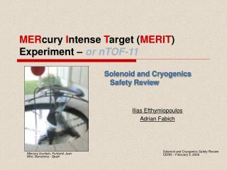MERcury Intense Target MERIT Experiment   or nTOF-11