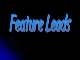 Feature Leads