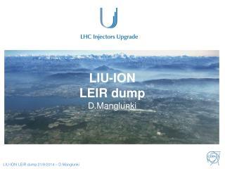 LIU-ION  LEIR dump D.Manglunki