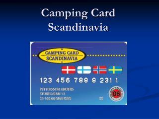 Camping Card Scandinavia