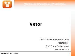 Prof. Guilherme Baião S. Silva Adaptações: Prof. Edwar Saliba Júnior Janeiro de 2009