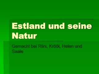 Estland und seine Natur