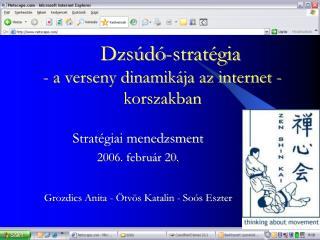 Dzsúdó-stratégia  - a verseny dinamikája az internet -korszakban