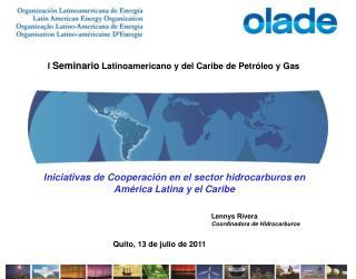 I  Seminario  Latinoamericano y del Caribe de Petróleo y Gas