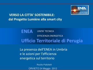 VERSO LA CITTA' SOSTENIBILE:  dal Progetto Lumière alla  smart  city