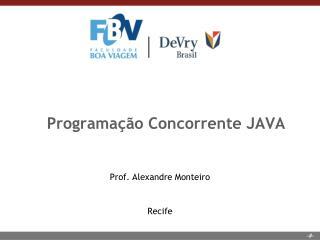 Programação Concorrente JAVA