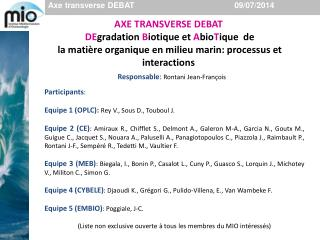 Axe transverse DEBAT                                             09/07/2014