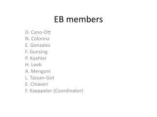 EB  members