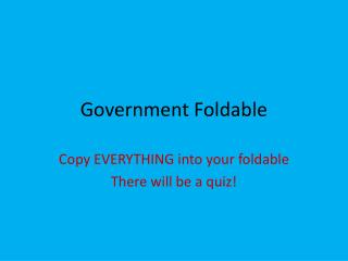 Government Foldable