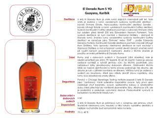 El Dorado Rum 5 YO Guayana, Karibik