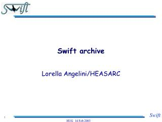 Swift archive