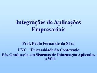 Integrações de Aplicações Empresariais