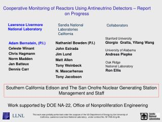 Cooperative Monitoring of Reactors Using Antineutrino Detectors   Report on Progress