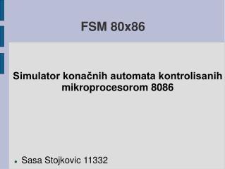 FSM 80x86